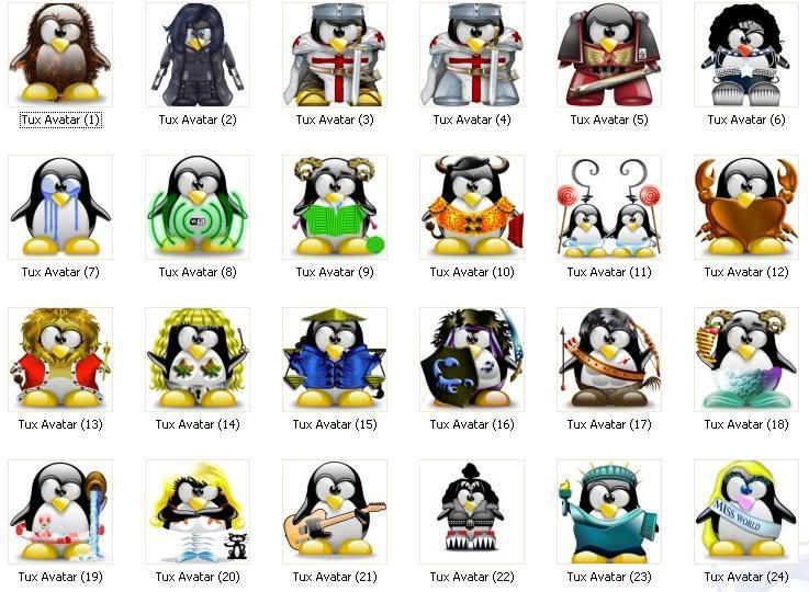tux, tuz, iconos, mascota, linux